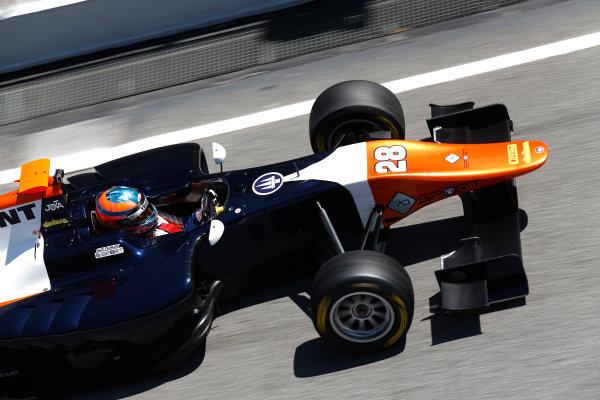 2015 GP3 Series Test 3 - Circuit de Catalunya, Barcelona, Spain. Thursday 23 April 2015. Oscar Tunjo (COL, Trident)  Photo: Sam Bloxham/GP3 Series Media Service. ref: Digital Image _SBL1784
