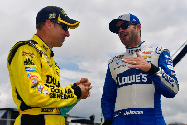 29-31 July, 2016, Long Pond, Pennsylvania USA Matt Kenseth, Dollar General Toyota Camry, Jimmie Johnson ?2016, Logan Whitton  LAT Photo USA