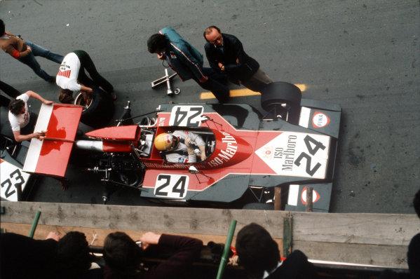 Montjuich Park, Barcelona, Spain. 27-29 April 1973. Nanni Galli (Williams FW03 Ford). Ref-35mm 73 ESP 40. World Copyright - LAT Photographic