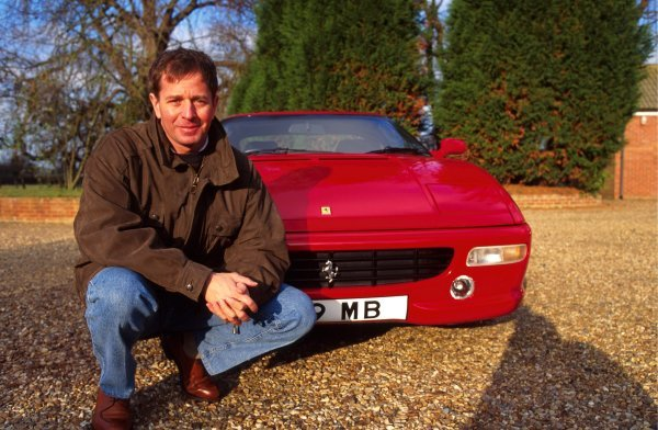 Martin Brundle (GBR) with his Ferrari 348 road car.