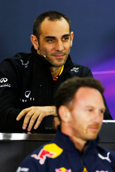 Albert Park, Melbourne, Australia. Friday 18 March 2016. Cyril Abiteboul, Managing Director, Renault Sport F1, in the Team Principals Press Conference. World Copyright: Andrew Hone/LAT Photographic ref: Digital Image _ONZ2149