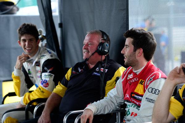 17-18  November,  2015, Daytona Beach, Florida, USA Ricky Taylor, Dan Binks, Mike Rockenfeller of Corvette Racing. ©2015, Richard Dole LAT Photo USA