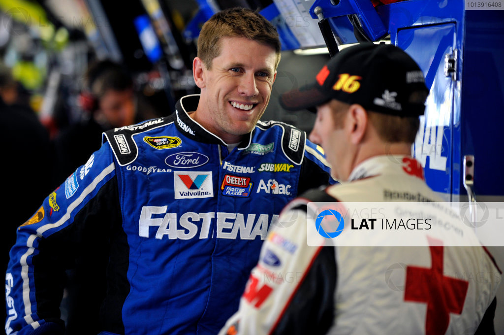11-13 April, 2013, Fort Worth, Texas USA Carl Edwards and Greg Biffle ©2013, Nigel Kinrade LAT Photo USA