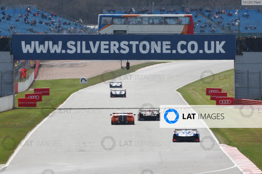 2013 FIA WEC Championship, Silverstone, Northamptonshire. 12th - 14th April 2013. Silverstone Bus World Copyright: Ebrey / LAT Photographic.