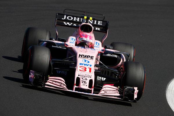 Hungaroring, Budapest, Hungary.  Saturday 29 July 2017. Esteban Ocon, Force India VJM10 Mercedes.  World Copyright: Steven Tee/LAT Images  ref: Digital Image _R3I2539