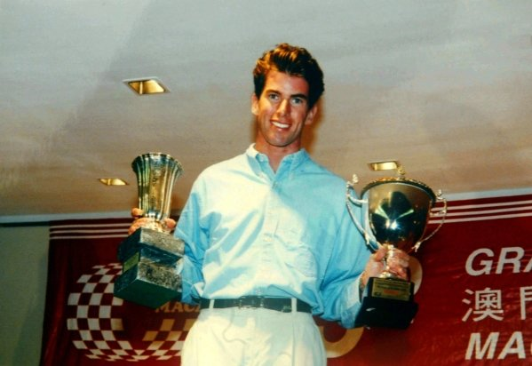 Ralph Firman Jnr (GBR) celebrates victory in the Macau F3 Grand Prix.