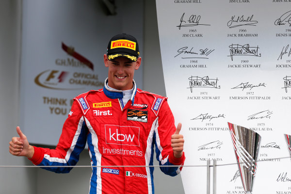 2015 GP3 Series Round 4.  Hungaroring, Budapest, Hungary. Sunday 26 July 2015. Kevin Ceccon (ITA, Arden International)  World Copyright: Sam Bloxham/LAT Photographic. ref: Digital Image _79P8957