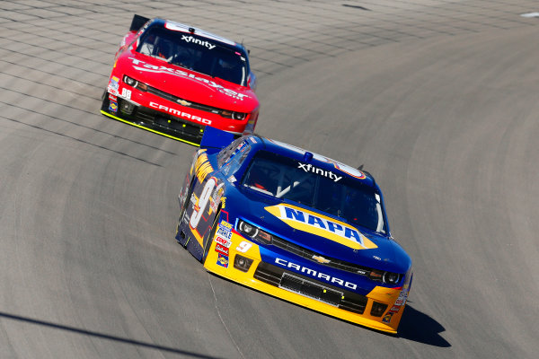 6-7 March, 2015, Las Vegas, Nevada USA Chase Elliott and Dale Earnhardt Jr ?2015, Russell LaBounty LAT Photo USA