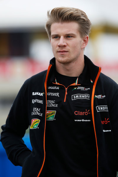 Interlagos, Sao Paulo, Brazil. Friday 7 November 2014. Nico Hulkenberg, Force India. World Copyright: Charles Coates/LAT Photographic. ref: Digital Image _N7T7304