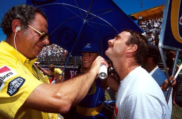 Ferrari's Cesare Fiorio with Nigel Mansell Australian GP - Adelaide, Australia, 4 November 1990