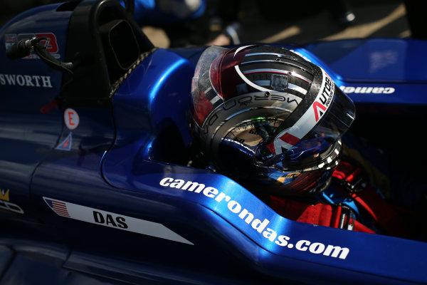 2017 BRDC Formula 3 Championship, Rockingham, England. 29th-30th April 2017, Cameron Das (USA) Carlin BRDC F3 World copyright. JEP/LAT Images