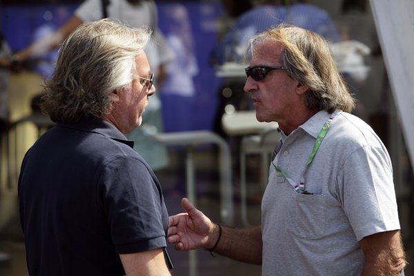 2006 Italian Grand Prix - Saturday Practice Autodromo Nazionale Monza, Italy. 7th - 10th September 2006. Keke Rosberg and Jacques Laffites, portrait. World Copyright: Glenn Dunbar/LAT Photographic ref: Digital Image YY8P0486