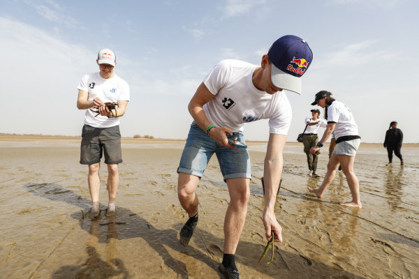 Kevin Hansen (SWE), JBXE Extreme-E Team, and Timmy Hansen (SWE), Andretti United Extreme E, on the Oceanium Mangrove Legacy Project Visit