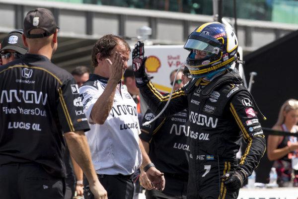 Marcus Ericsson, Arrow Schmidt Peterson Motorsports Honda, after winning pit stop competition