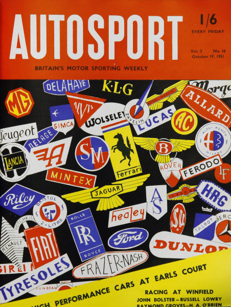 Cover of Autosport magazine, 19th October 1951
