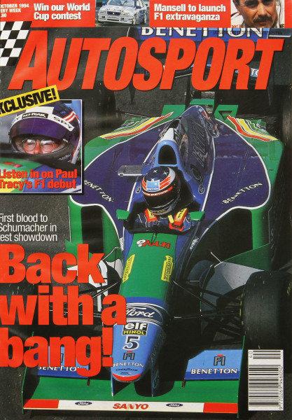 Cover of Autosport magazine, 6th October 1994
