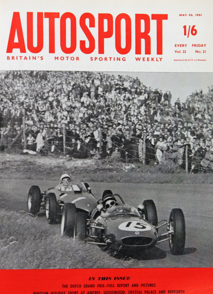 Cover of Autosport magazine, 26th May 1961