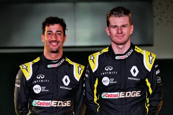 Daniel Ricciardo, Renault Sport F1 Team and Nico Hulkenberg, Renault Sport F1 Team
