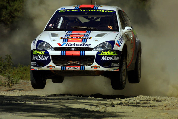 2001 Cyprus Rally.Colin McRae in action.Photo:McKlein.