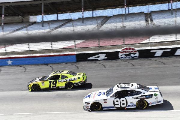 #19: Brandon Jones, Joe Gibbs Racing, Toyota Supra Menards/Bali and #98: Chase Briscoe, Stewart-Haas Racing, Ford Mustang Ford Performance Racing School