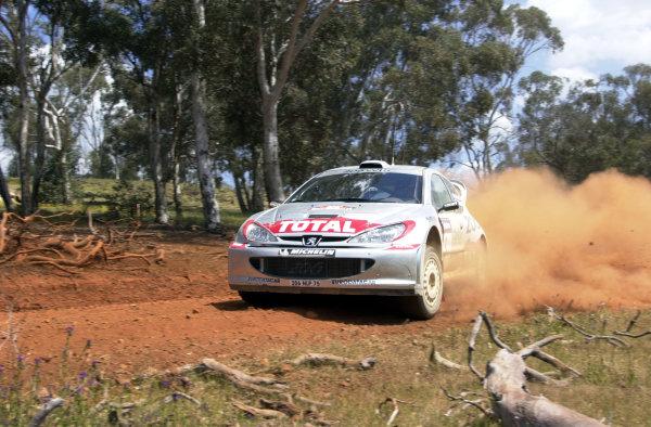 2001 World Rally ChampionshipTelstra Rally Australia, Perth, WA. 1-4 November 2001.Marcus Gronholm onstage 6 .Photo: Ralph Hardwick/LAT