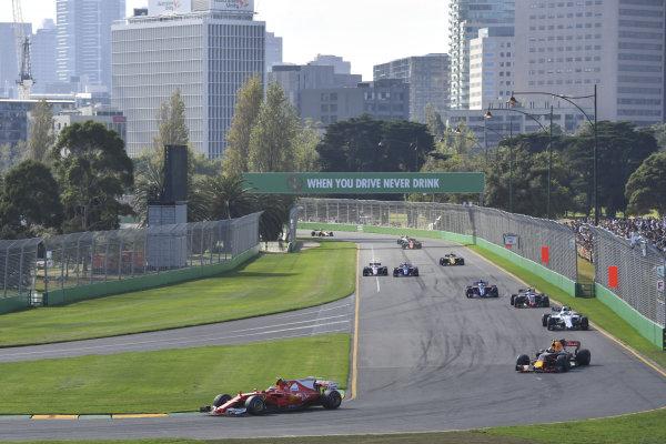 Kimi Raikkonen (FIN) Ferrari SF70-H at Formula One World Championship, Rd1, Australian Grand Prix, Race, Albert Park, Melbourne, Australia, Sunday 26 March 2017.