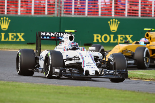 Valtteri Bottas (FIN) Williams FW38 at Formula One World Championship, Rd1, Australian Grand Prix, Race, Albert Park, Melbourne, Australia, Sunday 20 March 2016.
