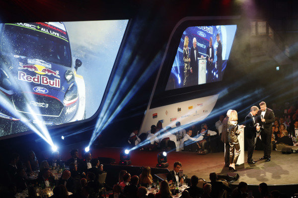 Malcolm Wilson accepts the Rally Car of the Year award