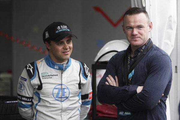 Felipe Massa (BRA), Venturi Formula E, with footballer Wayne Rooney