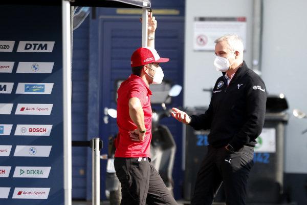 Mike Rockenfeller, Audi Sport Team Phoenix, Jens Marquardt, BMW Motorsport Director.