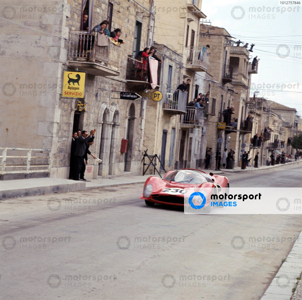 Little Madonie Circuit, Sicily, Italy.8 May 1966.Nino Vaccarella/Lorenzo Bandini (Ferrari 330P3).Ref-2064.A Race Through Time exhibition number 77.World Copyright - LAT Photographic
