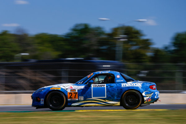 IMSA Continental Tire SportsCar Challenge Fox Factory 120 Road Atlanta, Braselton GA Wednesday 4 October 2017 27, Mazda, Mazda MX-5, ST, Britt Casey Jr, Tom Long World Copyright: Jake Galstad LAT Images