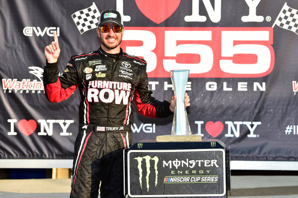 Monster Energy NASCAR Cup Series I LOVE NEW YORK 355 at The Glen Watkins Glen International, Watkins Glen, NY USA Sunday 6 August 2017 Martin Truex Jr, Furniture Row Racing, Furniture Row/Denver Mattress Toyota Camry celebrates in victory lane  World Copyright: John Harrelson LAT Images