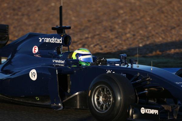 Felipe Massa (BRA) Williams FW36. Formula One Testing, Jerez, Spain, Day Three, Thursday 30 January 2014. BEST IMAGE