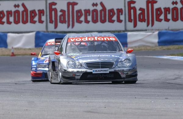 2004 DTM ChampionshipEstoril, Portugal. 1st - 2nd May 2004.Race winner Christijan Albers (HWA Mercedes C-Class) leads Mattias Ekstrom (Abt Sportsline Audi A4) action.World Copyright: Andre Irlmeir/LAT Photographicref: Digital Image Only