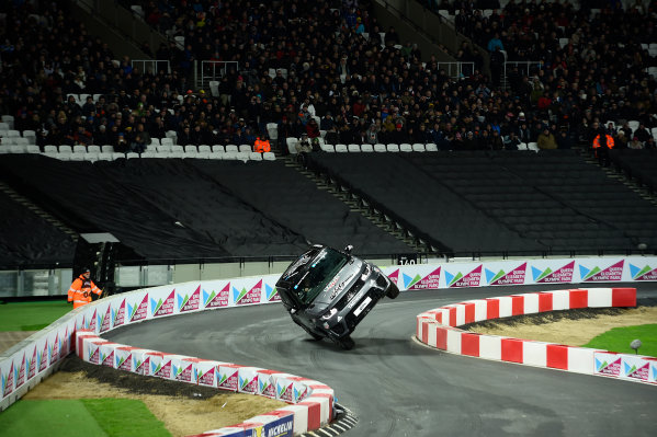 2015 Race Of Champions Olympic Stadium, London, UK Saturday 21 November 2015 Terry Grant attempts to breakt the 2 wheel driving record Copyright Free FOR EDITORIAL USE ONLY. Mandatory Credit: 'IMP'