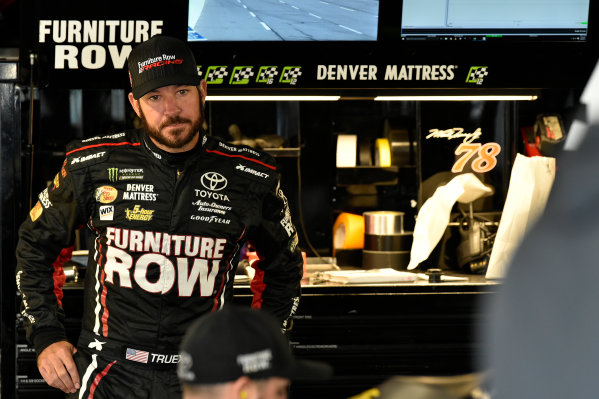 Monster Energy NASCAR Cup Series First Data 500 Martinsville Speedway, Martinsville VA USA Saturday 28 October 2017 Martin Truex Jr, Furniture Row Racing, Furniture Row/Denver Mattress Toyota Camry World Copyright: Scott R LePage LAT Images ref: Digital Image lepage-171028-mart-3228