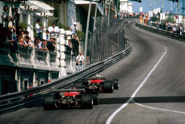 Race winner Jody Scheckter (RSA) Ferrari 312T4 leads team mate Gilles Villeneuve (CDN) Ferrari 312T4, who retired from the race on lap 55 with a broken transmission. Monaco Grand Prix, Rd 7, Monte Carlo, Monaco, 27 May 1979. BEST IMAGE