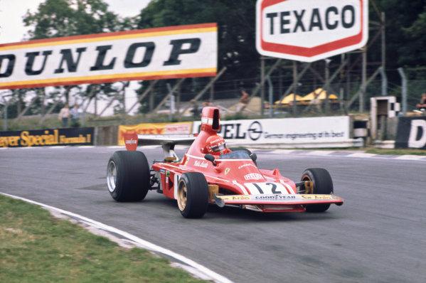 1974 British Grand Prix  Brands Hatch, England. 18-20 July 1974.  Niki Lauda, Ferrari 312B3, 5th position.  Ref: 74GB03. World Copyright: LAT Photographic