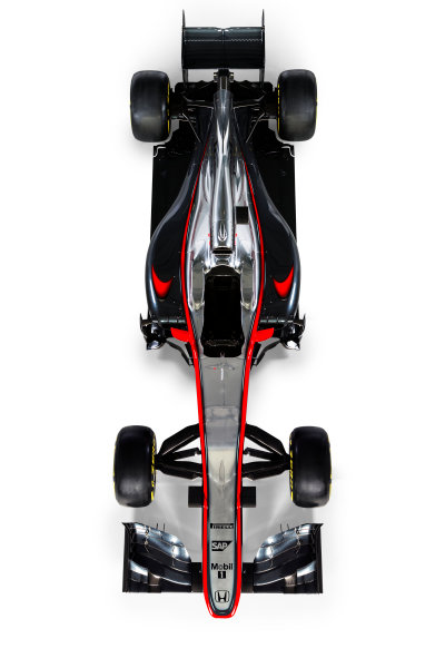 McLaren Honda MP4-30 Reveal Woking, UK. 29 January 2015 The McLaren Honda MP4-30. Photo: McLaren (Copyright Free FOR EDITORIAL USE ONLY) ref: Digital Image MP4-30 - Overhead