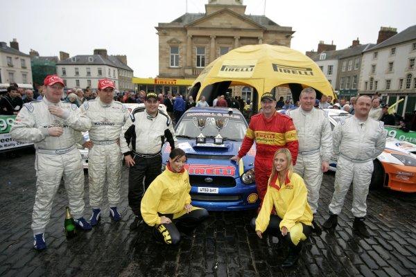 Overall podiumJim Clark Rally2006 British Rally ChampionshipKelso, ScotlandWorldwide copyright: Ebrey/LAT Photographic