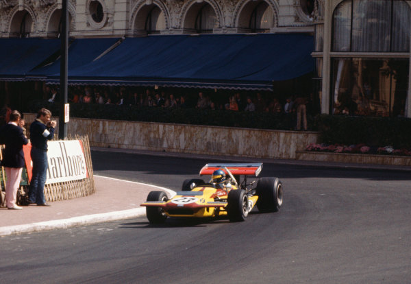 Monte Carlo, Monaco. 7 - 10 May 1970. Ronnie Peterson (March 701-Ford), 7th position, action. World Copyright: LAT Photographic. Ref:  70MON