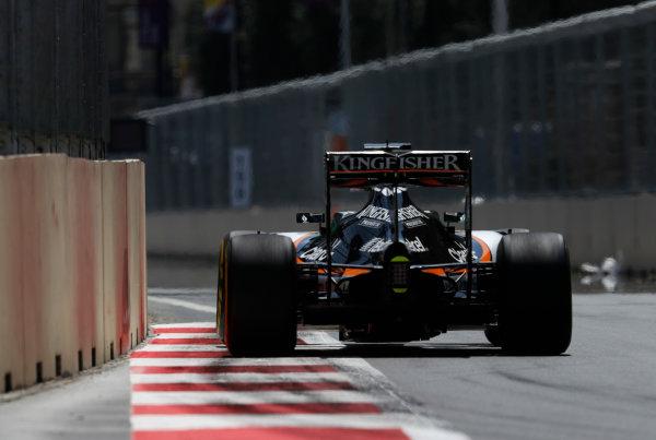 Baku City Circuit, Baku, Azerbaijan. Saturday 18 June 2016. Nico Hulkenberg, Force India VJM09 Mercedes. World Copyright: Glenn Dunbar/LAT Photographic ref: Digital Image _V2I9527