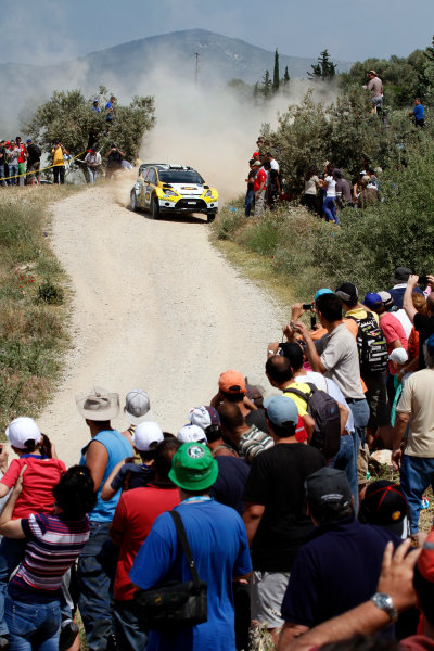 Round 06 - Rally Acropolis Greece 24-27 May 2012. Daniel Oliveira, Ford WRC, Action.  Worldwide Copyright: McKlein/LAT