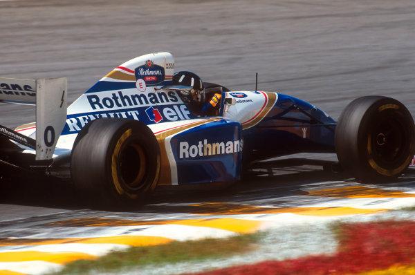 Interlagos, Sao Paulo, Brazil.25-27 March 1994.Damon Hill (Williams FW16 Renault) 2nd position.Ref-94 BRA 18.World Copyright - LAT Photographic