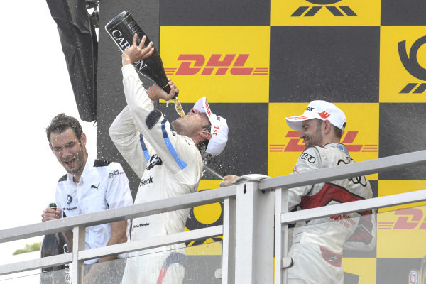 Podium, Bruno Spengler, BMW Team RMG, Jamie Green, Audi Sport Team Rosberg.