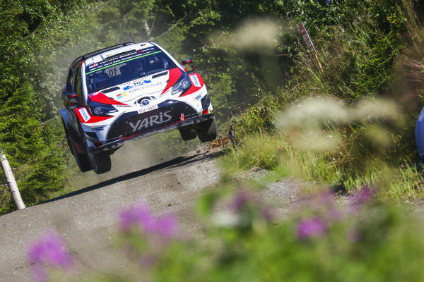 Jari-Matti Latvala (FIN) / Miikka Anttila (FIN), Toyota Gazoo Racing Toyota Yaris WRC at World Rally Championship, Rd9, Rally Finland, Day Three, Jyvaskyla, Finland, 30 July 2017.