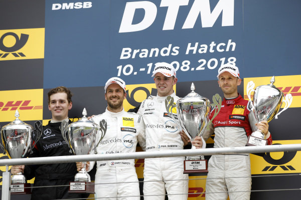 Podium: Race winner Paul Di Resta, Mercedes-AMG Team HWA, second place Gary Paffett, Mercedes-AMG Team HWA, third place René Rast, Audi Sport Team Rosberg.