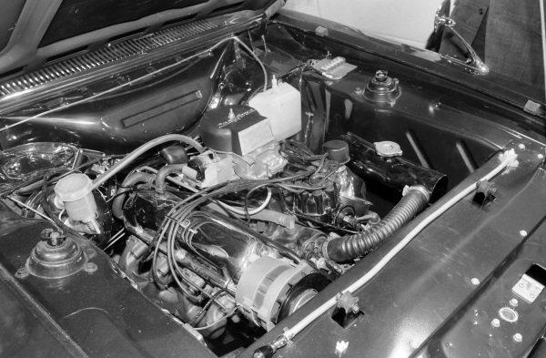 Ford Capri V8 engine conversion badged Crayford.
