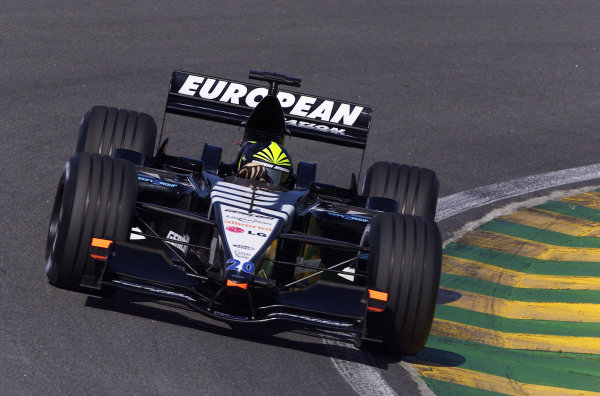 2001 Brazilian Grand Prix.Interlagos, Sao Paulo, Brazil. 30/3-1/4 2001.Tarso Marques (Minardi PS01 European).World Copyright - Steve Etherington/LAT Photographic ref: 18MB Digital